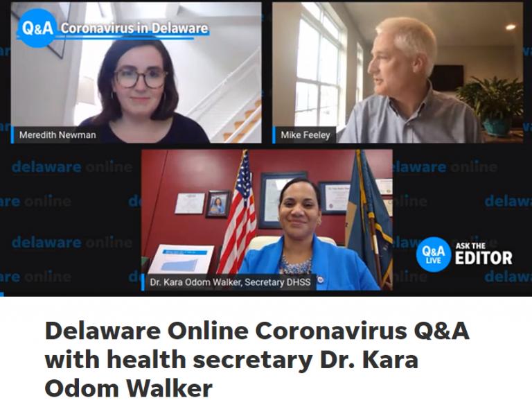 Delaware Online Coronavirus Q&A with Health Secretary Dr. Kara Odom Walker