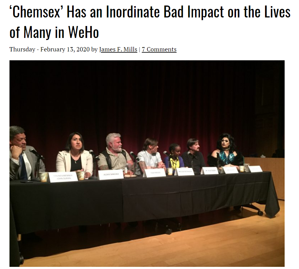 """""""Chemsex"""" and its effect on Weho lives"""